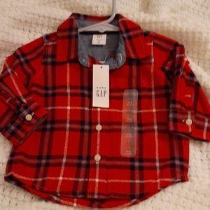 Brand new baby gap flannel